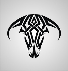 Tribal bulls head vector