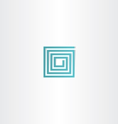 Turquoise square spiral logo icon vector