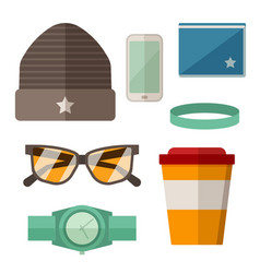 Urban active lifestyle accessories vector