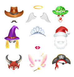 Video chat funny face effect flat funny icons vector