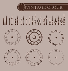 Vintage clock part vector