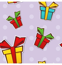 Seamless repeating pattern with colorful gift vector