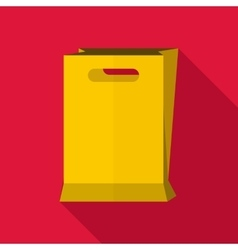 Paper bag icon flat style vector