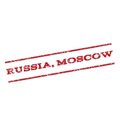 Russia moscow watermark stamp vector