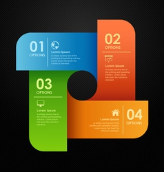 Modern business options banner vector