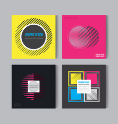 abstract posers set art graphic backgrounds in vector image