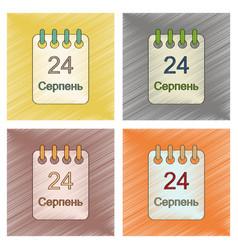 assembly flat shading style icon calendar ukraine vector image