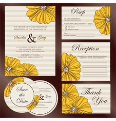 Wedding cards set copy vector