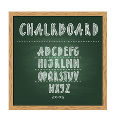 antique child school chalkboard with green texture vector image