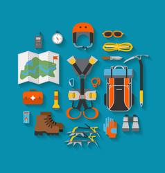 Flat design equipment for climbing vector