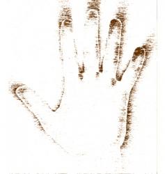 grunge hand vector image