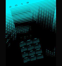 2018 abstract calendar vector image vector image