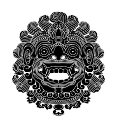 mythological gods head indonesian traditional art vector image