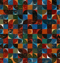 Abstract mosaic retro seamless pattern vector