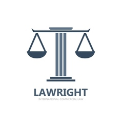 Justice scales lawyer logo vector