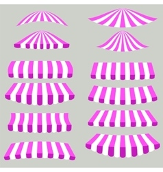 Pink white tents vector