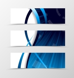 Set of banner spectrum design vector