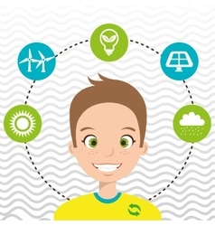 People and environment isolated icon design vector
