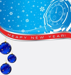New year time blue vector
