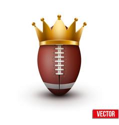 American football ball with royal crown vector