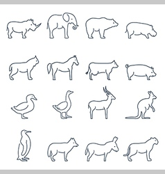 Animal iconselements for print mobile and web vector
