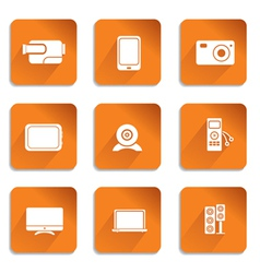 audio video icons vector image vector image