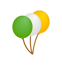 Balloons in irish colors isometric 3d icon vector image