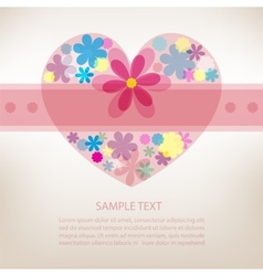 Beautiful floral heart background vector image