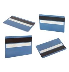 Blue creadit card vector image vector image