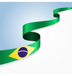 Brazilian flag background vector image vector image