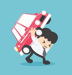 Businessman automobile loan liability vector