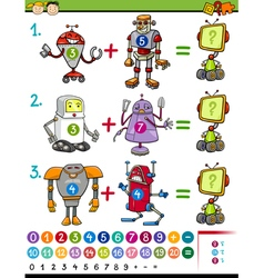 Cartoon mathematical education game vector