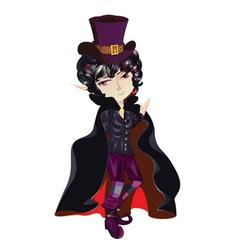 Cartoon vampire vector