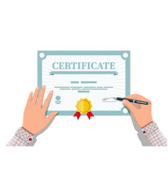 Certificate template diploma or accreditation vector