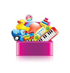 children toys box isolated vector image