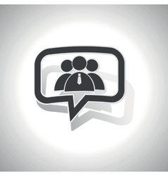 Curved user group message icon vector image