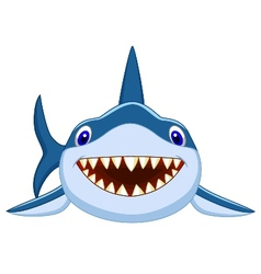 Cute shark cartoon vector image