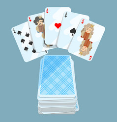 deck of different cards collection on vector image