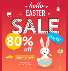 Easter sale banner background template vector