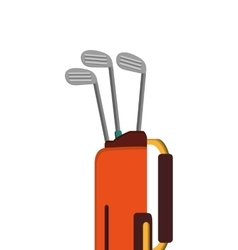 Golf bag with clubs icon vector