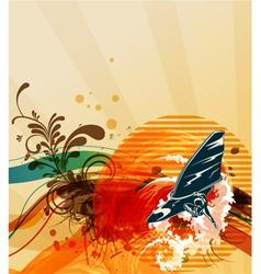 grunge summer background vector image vector image