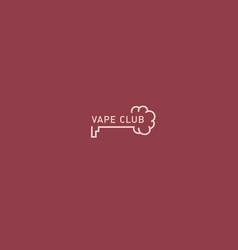 Logo for the vape club key and smoke vector
