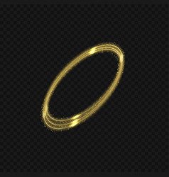 magic golden sparkles effect vector image