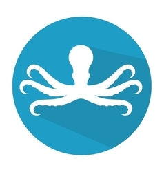 Octopus animal isolated icon vector