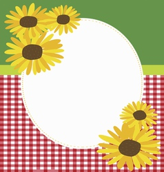 Rural style invitation with sunflowers vector