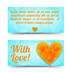 shiny greeting horizontal banners vector image