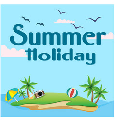 summer holiday island background image vector image vector image