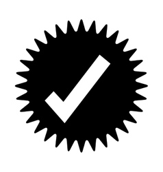 Tick or check label or emblem icon image vector