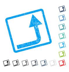 Turn forward icon rubber watermark vector