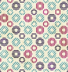vintage circle seamless pattern with paper effect vector image